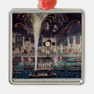 A view of the Fire-workes and Illuminations Metal Ornament