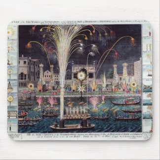A view of the Fire-workes and Illuminations Mouse Pad