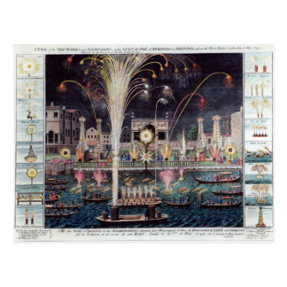 A view of the Fire-workes and Illuminations Postcard