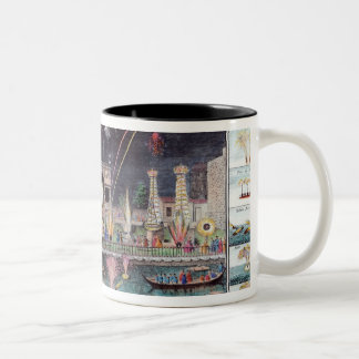A view of the Fire-workes and Illuminations Two-Tone Coffee Mug