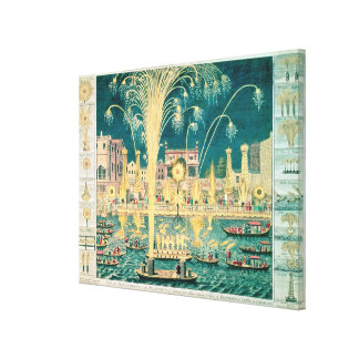 A View of the Fireworks and Illuminations Canvas Print