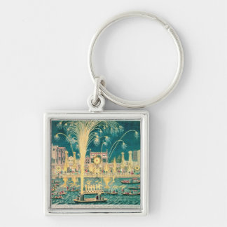 A View of the Fireworks and Illuminations Keychain