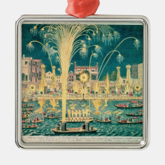 A View of the Fireworks and Illuminations Metal Ornament