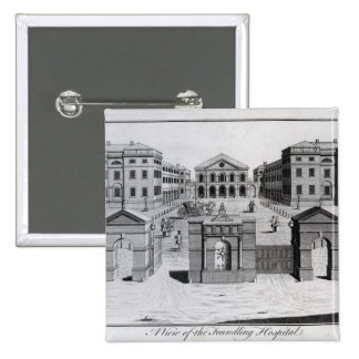 A View of the Foundling Hospital, 1756 Button