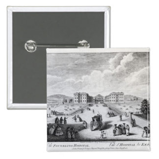 A View of the Foundling Hospital 2 Inch Square Button