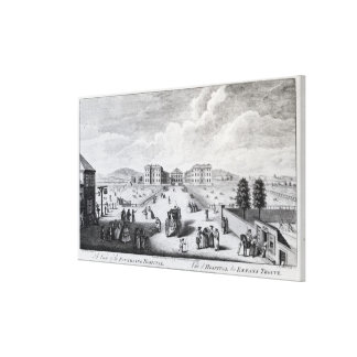 A View of the Foundling Hospital Canvas Print