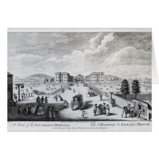 A View of the Foundling Hospital Greeting Card