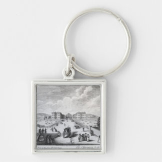 A View of the Foundling Hospital Silver-Colored Square Keychain