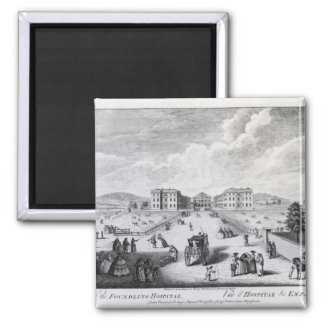 A View of the Foundling Hospital 2 Inch Square Magnet