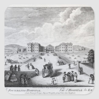 A View of the Foundling Hospital Square Sticker