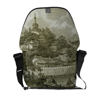 A View of the Gardens of the Imperial Palace, Peki Courier Bag