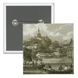 A View of the Gardens of the Imperial Palace, Peki Pinback Button