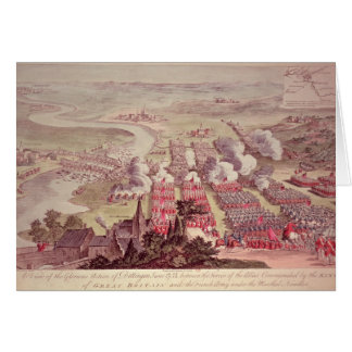 A View of the Glorious Action of Dettingen Card