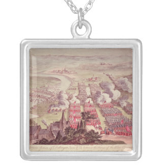 A View of the Glorious Action of Dettingen Square Pendant Necklace
