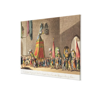 A View of the Grand Procession of the Sacred Camel Canvas Print