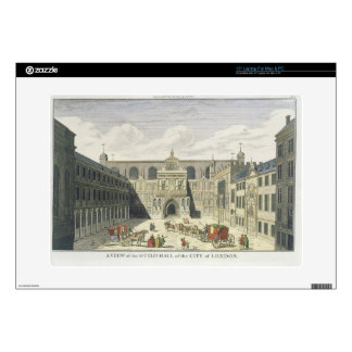"A View of the Guild Hall of the City of London, fr 15"" Laptop Skin"