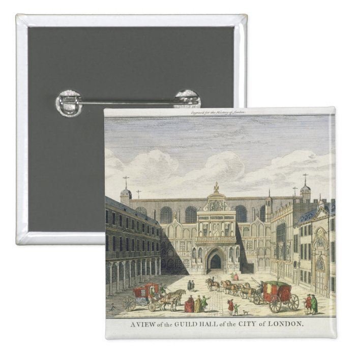 A View of the Guild Hall of the City of London, fr Button