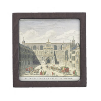 A View of the Guild Hall of the City of London, fr Jewelry Box