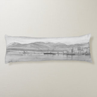A View of the Harbour at Cannes by Edward Lear Body Pillow