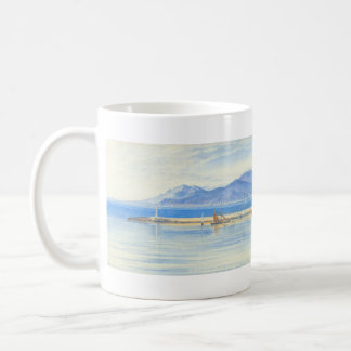 A View of the Harbour at Cannes by Edward Lear Coffee Mug