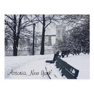 A View of the Hellgate Bridge, Astoria NY Postcard