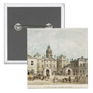 A view of the Horse Guards from Whitehall Pinback Button