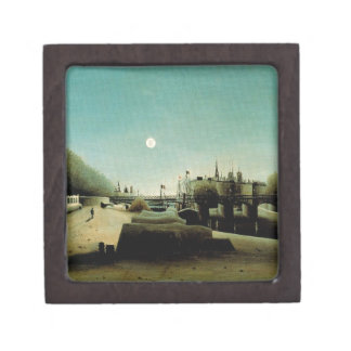 A View of the Ile Saint Louis from Port Saint Nico Keepsake Box