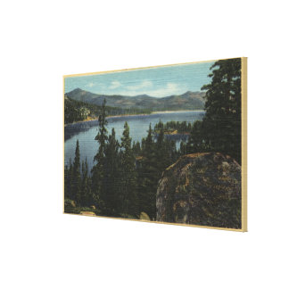 A View of the Lake from Castle Rock Canvas Print