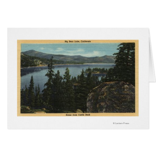 A View of the Lake from Castle Rock Card