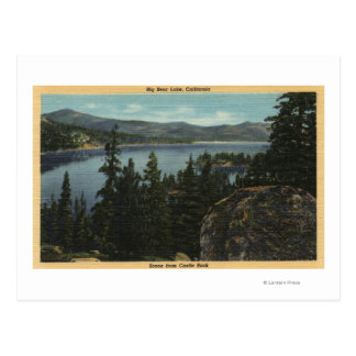 A View of the Lake from Castle Rock Postcard