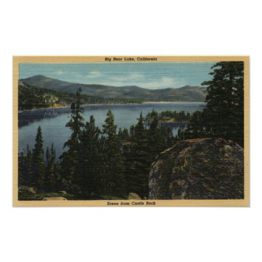 A View of the Lake from Castle Rock Print