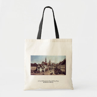 A View Of The Market Place Of Pirna Pirna Canvas Bag