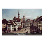 A View Of The Market Place Of Pirna Pirna Poster