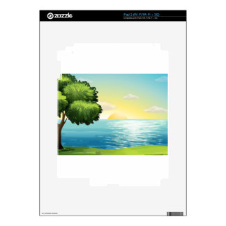 A view of the ocean decal for iPad 2