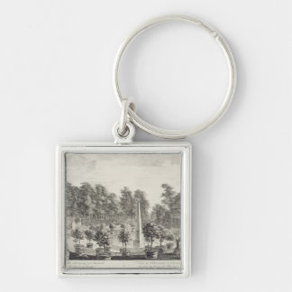 A View of the Orangery, Lord Burlington's Garden a Keychain