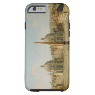 A View of the Piazza del Popolo (oil on canvas) Tough iPhone 6 Case