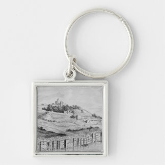 A view of the port of the city of Lyons Key Chains