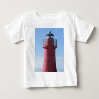 A view of the red harbor lighthouse along the Tusc Baby T-Shirt