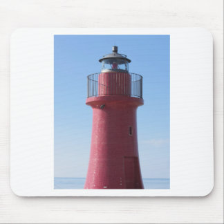A view of the red harbor lighthouse along the Tusc Mouse Pad