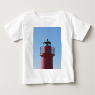A view of the red harbor lighthouse baby T-Shirt