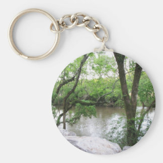 A View of the River Basic Round Button Keychain
