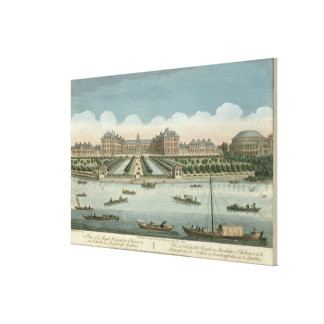 A View of the Royal Hospital at Chelsea and the Ro Stretched Canvas Prints