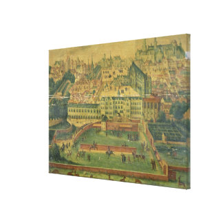 A View of the Royal Palace, Brussels Canvas Print