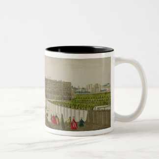 A View of the Royal Palace of Hampton Court, publi Two-Tone Coffee Mug