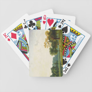 A View of the Serpentine, 1815 (oil on canvas) Bicycle Playing Cards