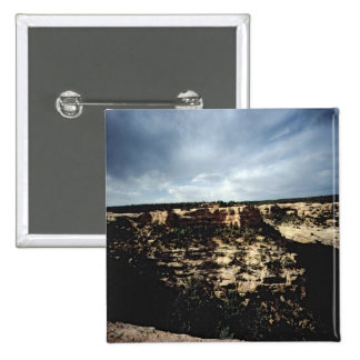 A view of the surrounding landscape pinback button