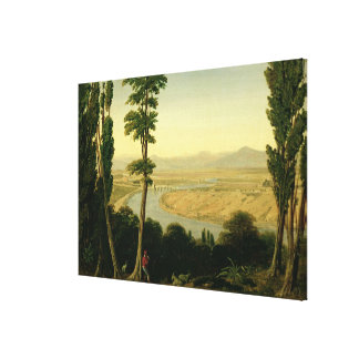 A View of the Tiber and the Roman Campagna Canvas Prints