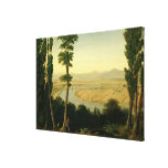 A View of the Tiber and the Roman Campagna Canvas Print