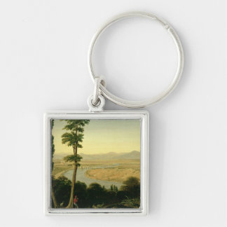 A View of the Tiber and the Roman Campagna Keychain