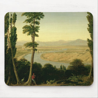 A View of the Tiber and the Roman Campagna Mouse Pad